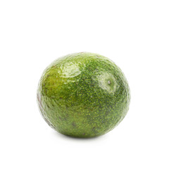 Spotted ripe avocado fruit isolated