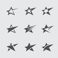 Black star icon set