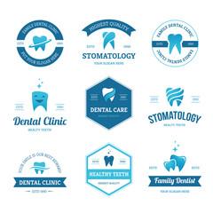 Blue dental labels