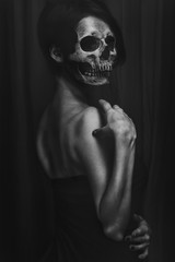 Portrait of a woman without a face