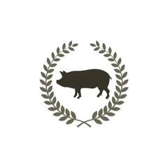 pig emblem logo