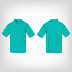 Turquoise polo shirt isolated vector