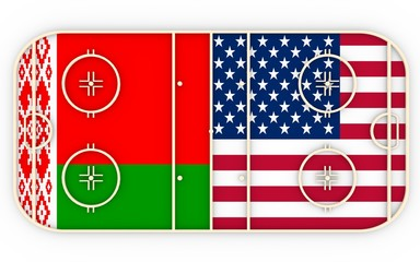 Belarus vs USA. Ice hockey competition 2016