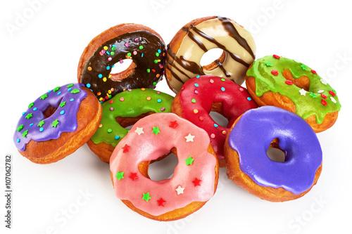 Пончик в белой глазури  № 3681765 загрузить
