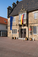 Eingang Rathaus Stadthagen, Niedersachsen