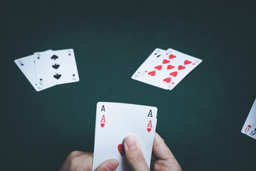 cards, gambling, hand