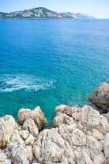 Rocks, Aegean Sea and Kas Peninsula