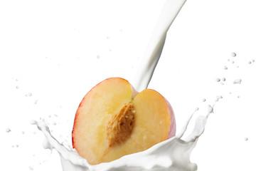 Peach With Milk Splash
