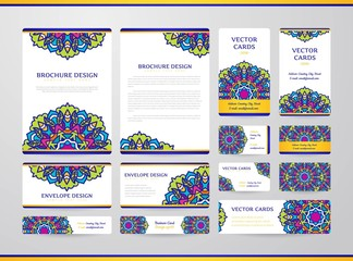 Business cards with mandala