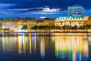 Night view of Hamburg, Germany