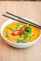 Tom yum noodles.