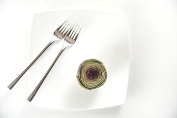Fresh artichoke dish