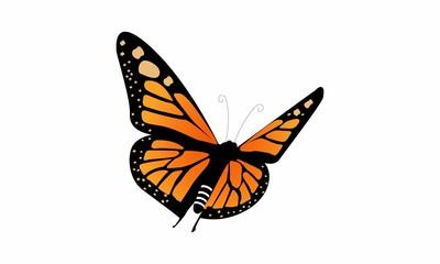 monarch butterfly logo vector