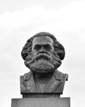 Statue of Karl Marx in St.Petersburg.