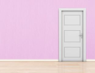 Wall and door
