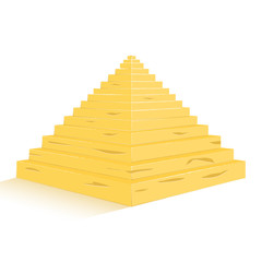 Three Egypt pyramids vector
