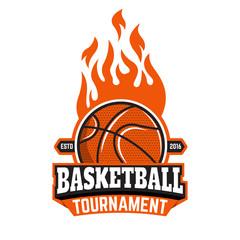 Basketball tournament emblem template.