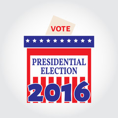 Vote box for presidential election. Vector illustration.