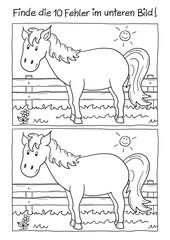 Fehlerbild Pferd
