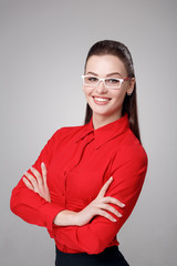 businesswoman in eyeglasses
