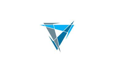 letter V A triangle logo