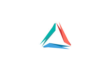 line colorful triangle logo