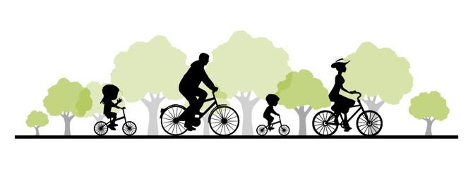 Radfahrer Radtour Familie