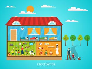 Kindergarten Flat Poster