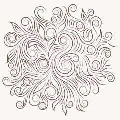 Elegant Vector Swirl Ornament
