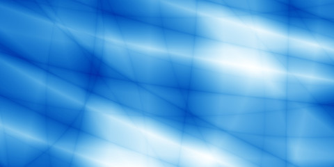 Wide screen blue magic technology abstract background