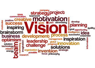 Vision, word cloud concept 3