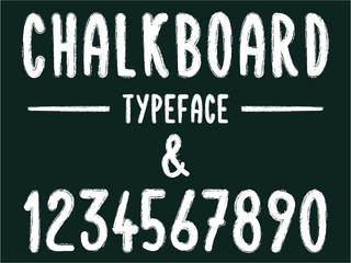 Chalkboard typeface / numbers