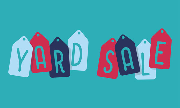 Badges with text yard sale, vector illustration