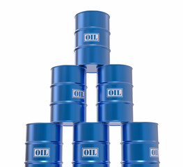 Isolated 3D Oil Barrels