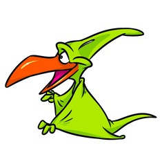Dinosaur pterodactyl cartoon illustration isolated image animal character