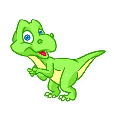 Little green dinosaur surprise 