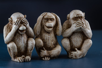 see no evil, hear no evil, speak, no evil
