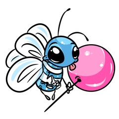 Fly sweet candy cartoon illustration isolated image animal character