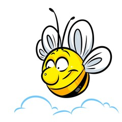 Bee insect flight parody cartoon illustration animal character