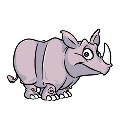 Rhinoceros cartoon illustration isolated image animal character