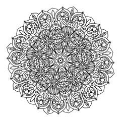 Abstract kaleidoscope Ornament round mandala. Geometric circle.