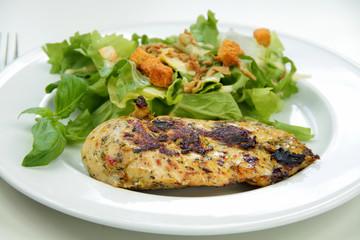 escalope de volaille et salade 04042016