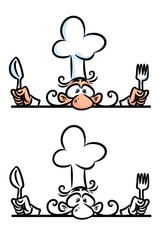 Cook professional cartoon illustration isolated image character