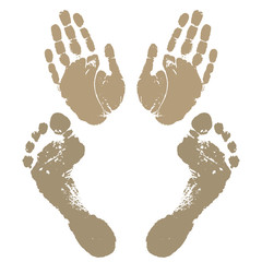 Foot step stamp print