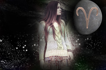Time of spring zodiac signs, woman aries