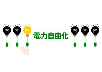 電球 イラスト ロゴ 電力自由化