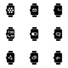 Vector flat smart watch icon. Smart Watch Icon Object, Smart Watch Icon Picture, Smart Watch Icon Image - stock vector
