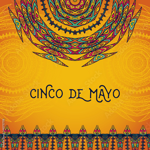 Beautiful greeting card invitation for cinco de mayo festival beautiful greeting card invitation for cinco de mayo festival design concept for mexican fiesta stopboris Images