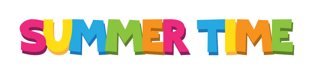 """""""SUMMER TIME"""" Cartoon Style Colourful Vector Lettering"""