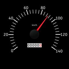 Speed gauge scale